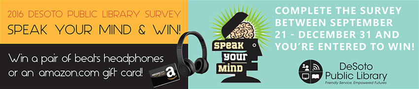 2016 Library Survey Banner