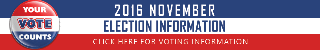 2016 Elections Information Banner