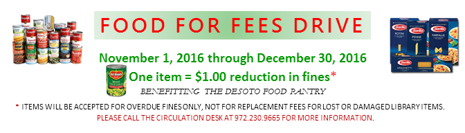 FOOD for FEES BANNER