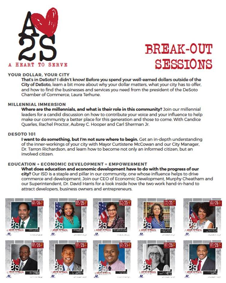 Breakout sessions flyer