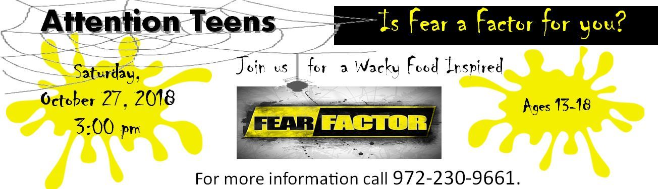 Fear Factor WebBanner 2018