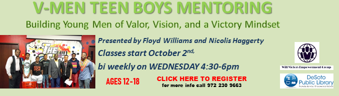 Fall 2019 V-Men Empowerment Program banner