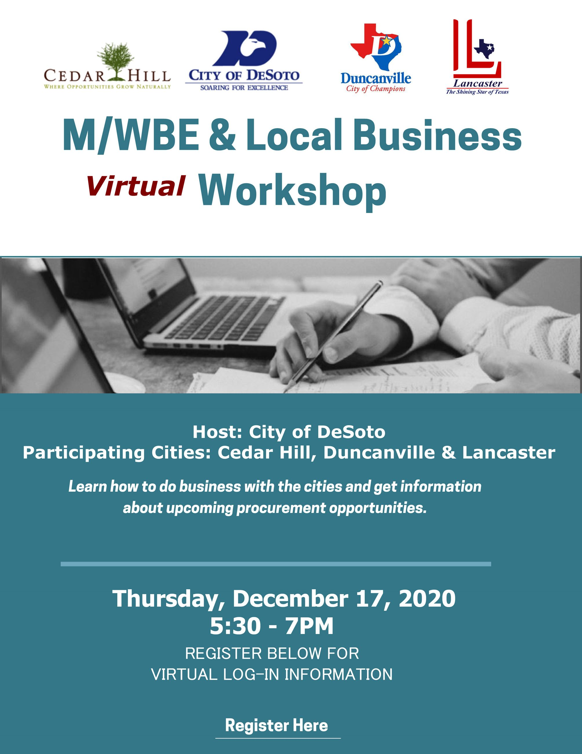 Dec 2020 MWBE Workshop Flyer