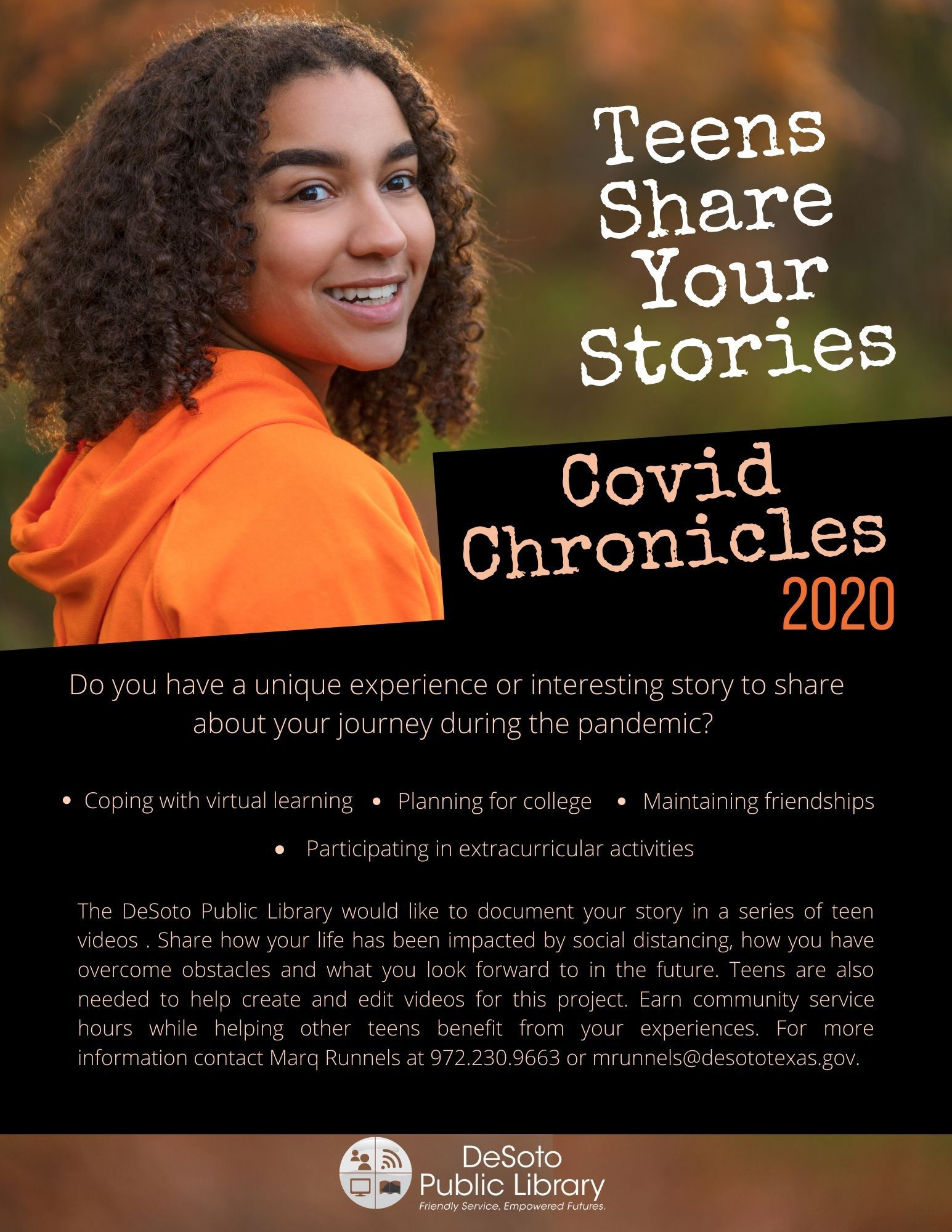 Teens Share Your Stories - COVID Chronicles 2020 image