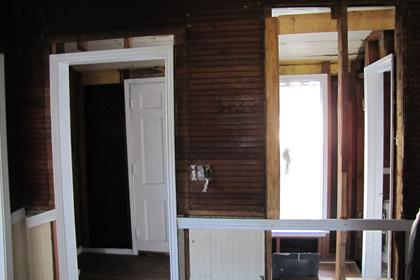 Doorway from Dining Room into Vestibule and Expose