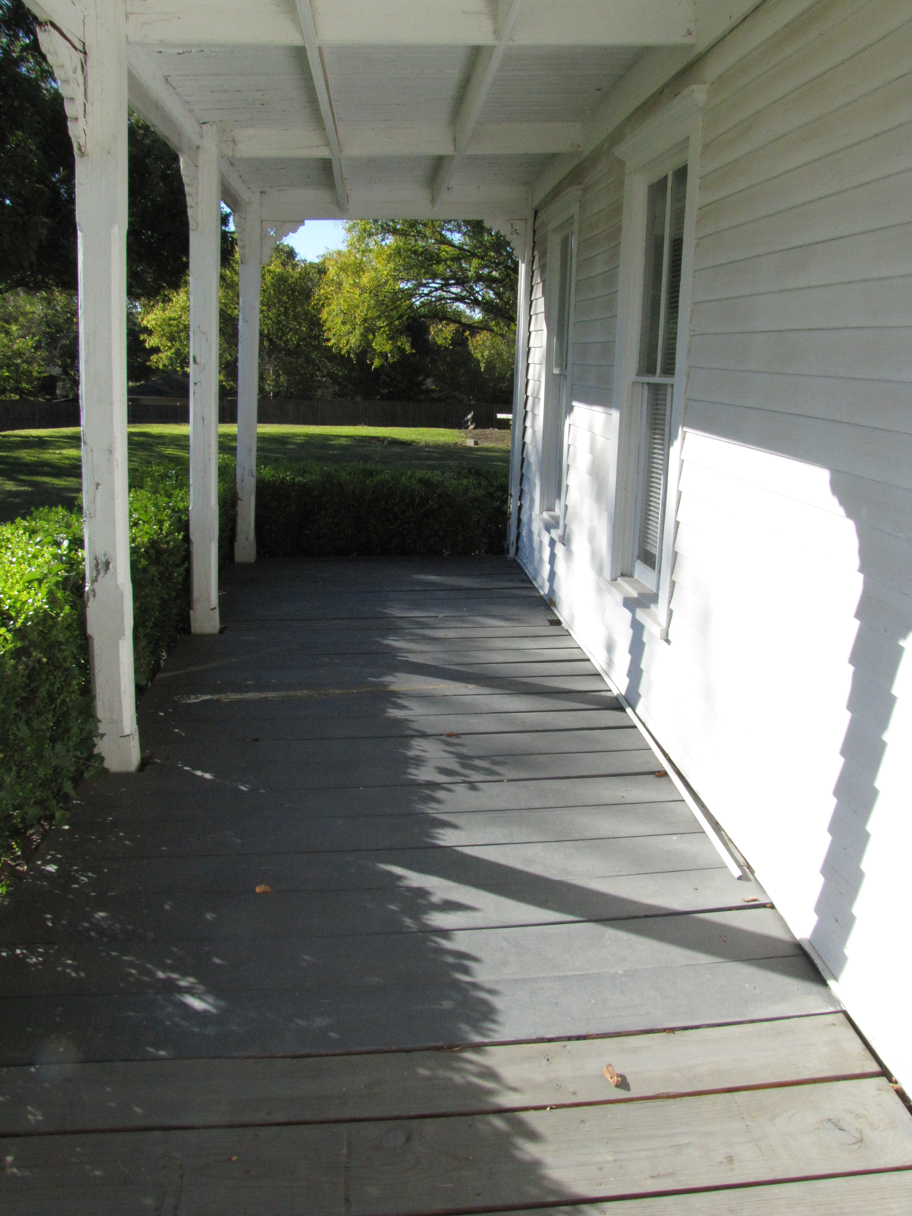 Downstairs Front Porch and Support Columns, Facing
