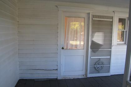 Exterior View of West Door Front Entryway, Facing