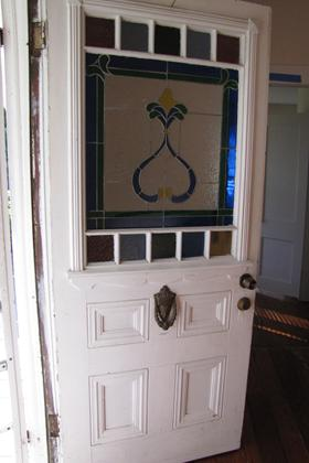 Front Entry Door with Stained Glass (11-08-10)