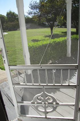 Front Entry Screen Door, Facing the Exterior South