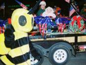 K.D. Bee walking in Annual Christmas Parade