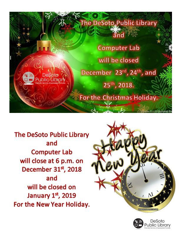 Christmas and New Years Closings 2018 2019