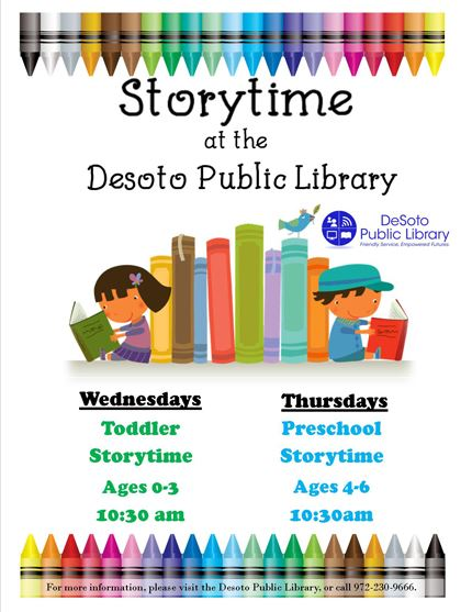 2019 Fall Storytimes flyer