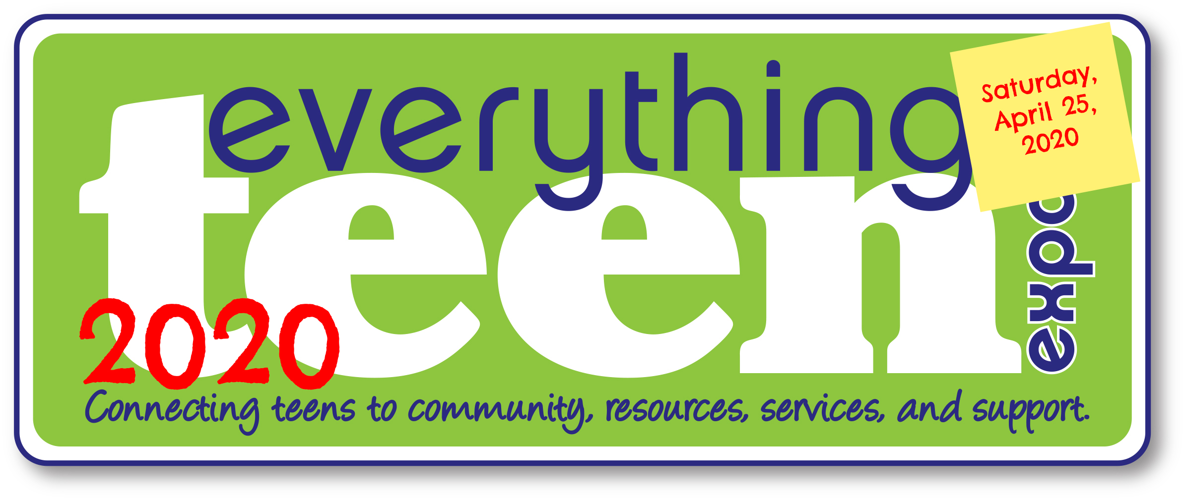 2020 Everything Teen Expo logo--save the date