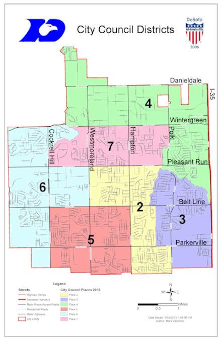 Map Of Desoto Texas